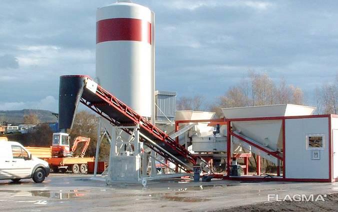 Мобильный бетонный узел Sumab K-60 (60 м3/час) Швеция