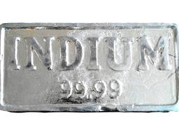 İndiyum külçe μέταλλο indium μάρκα InOO GOST 10297-94 indium