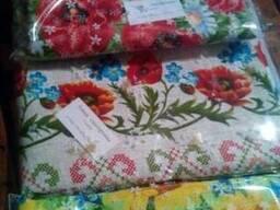 Скатерти, полотенца в украинском стиле, лён- рогожка - фото 4